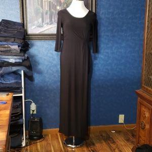 Stage Accents Black Maxi Long Sleeve Sz 10 Dress